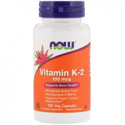 Now Vitamin K-2 100mcg 100...